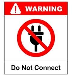 A not allowed icon with a plug vector
