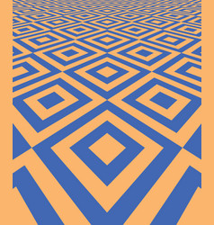 abstract background with perspective tiled floor vector image