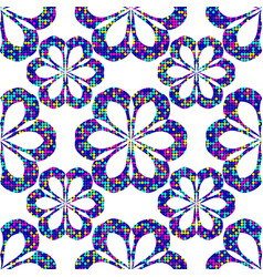 abstract seamless dots flower vector image
