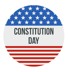 American flag constitution day logo icon flat vector