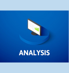 Analysis isometric icon isolated on color vector