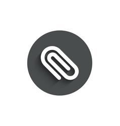 attach simple icon attachment paper clip sign vector image