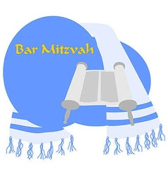 Bar-Mitzvah vector image