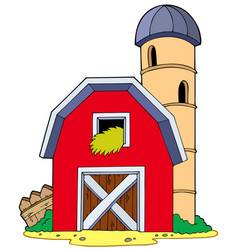 Barn with granary vector