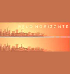 Belo horizonte beautiful skyline scenery banner vector