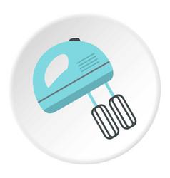 Blue electric mixer icon circle vector