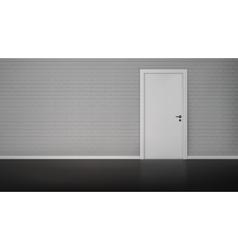 Brick wall with door vector