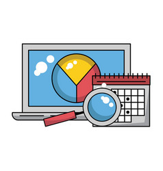 business and technology vector image