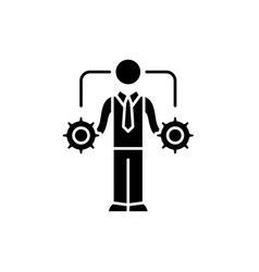 business decision-making black icon sign vector image