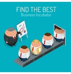 Business incubator Concept Find the best start up vector