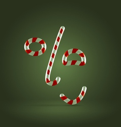 Candy cane excited face vector image