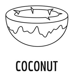 Coconut icon outline style vector