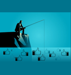 concept for social media marketing strategy vector image