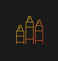 Crayons gradient icon for dark theme vector