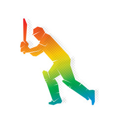 cricket player hitting shoot design vector image