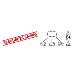 Distress resources saving line seal with collage vector