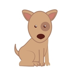 dog cartoon puppy isolated vector image