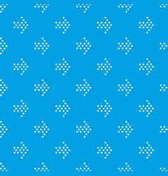 dots right arrow pattern seamless blue vector image