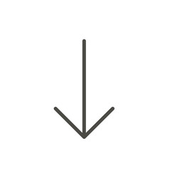 down arrow icon line downgrade symbol vector image