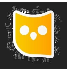 Drawing business formulas owl vector