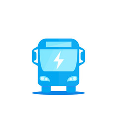 Electric bus icon on white vector