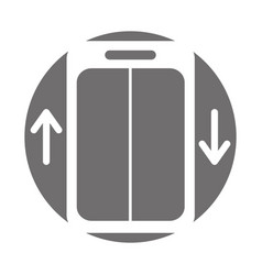 Elevator service isolated icon vector