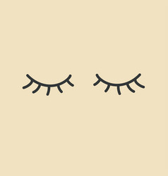 eyelashes closed eyes vector image