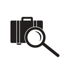 Flat icon in black and white style baggage Scanner vector