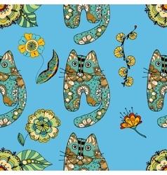 Funny cats vector