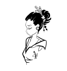Geisha Woman vector