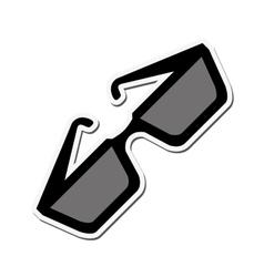 Glasses fashion accesory design vector