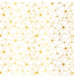 golden white stars network seamless pattern vector image