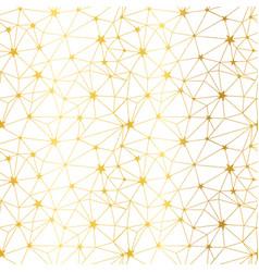 Golden white stars network seamless pattern vector