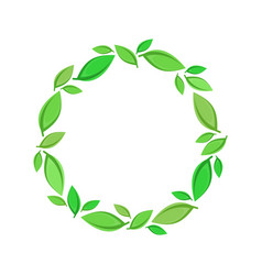 green leaf wreath vector image