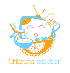 greeting card children television vector image