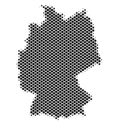 Halftone dotted germany map vector
