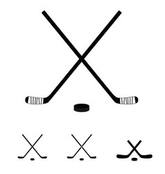 Hockey sticks set icon vector