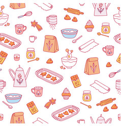 home baking pattern vector image