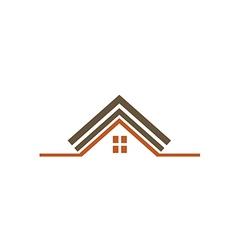 House construction realty roof logo vector
