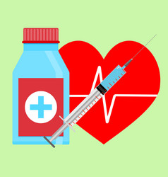 Injection adrenaline to heart vector
