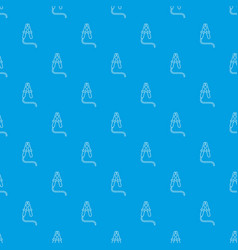 Jumper cable pattern seamless blue vector