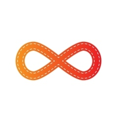 Limitless symbol Orange applique vector