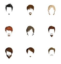 Man hair style set vector image