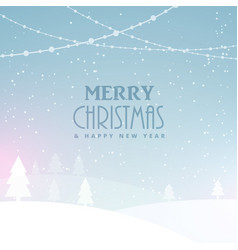 merry christmas celebration background with snow vector image