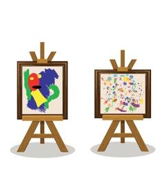 Modern Art Pieces vector
