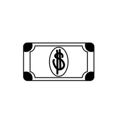 Money business financial banknote cash line style vector