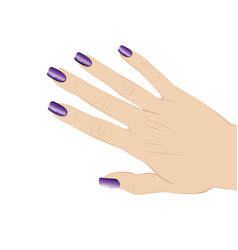 Nails with fashion manicure vector