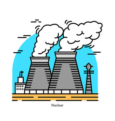 nuclear power plantpowerhouse or generating vector image