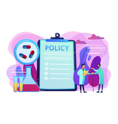 Pharmaceutical policy concept vector