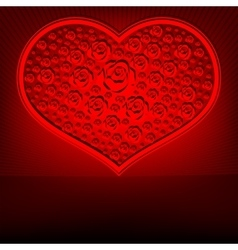 Red design heart vector image